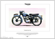 TRIUMPH TIGER CUB Classic Motorcycle Fine Art Print - 200cc OHV Single Motorbike