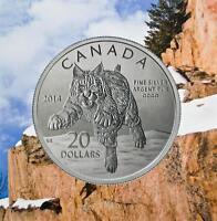 2014 Canada $20 Fine Silver Commemorative Coin - The Bobcat