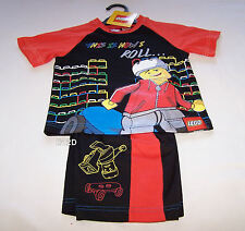 Lego This Is How I Roll Boys Black Red Printed 2 Piece Pyjama Set Size 4 New