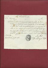 Manoscritto 1861 Certificazione Invalidità Totale Diritto Sostentamento Montale