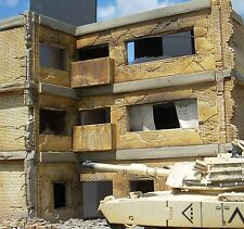 Dioramas Plus DP12 3 Story Apartment 1/35 + $15 Base & Rubble N/C Great Detail!
