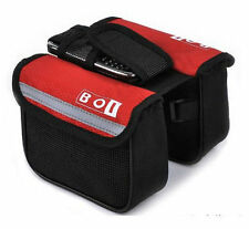 Red New Cycling Bike Sports Bicycle Frame Pannier Front Tube Double-Saddle Bag