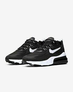 New Nike Air Max 270 React AO4971-004 Black  WhiTe Mens Shoes $150 clearance