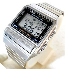 CASIO DB-520 DATA BANK 50 WORLD TIME VINTAGE MEN'S WATCH CASE 34MM