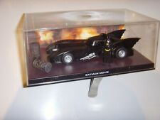"TM AND DC COMICS BATMAN MOVIE ""THE BAT MOBILE & BAT MAN FIGURE"" IN DISPLAY CASE"