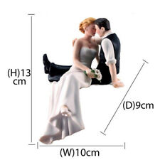 Bride and Groom Couple Wedding Cake Topper Love Favors Resin Figurine DecorCG