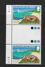 1995 Solomon Islands - Grapsid Crab - Gutter Pair With Traffic Lights - MNH.