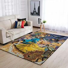 Beauty and The Beast Area Rugs / Disney Living Room Carpet, Custom Floor Home
