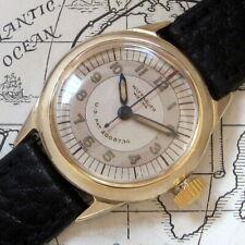 Mens 1940s Original WWII Wittnauer WEEMS Vintage 14K SOLID GOLD Vintage Watch A+