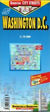 Map of Washington, DC, USA, Laminated & Folded by Berndston Maps