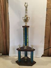 """""""L@K�! 1998 Basketball Trophy 3 Post 32 Inches Tall Den, Man Cave """"L@K�!"""