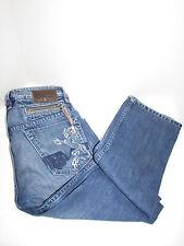 DIESEL INDUSTRY Blue Denim ONIJO Straight -Leg Distressed Jeans SZ 30