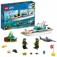 LEGO City Great Vehicles Diving Yacht 60221 Building Kit , New 2019 (148...