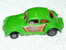 VINTAGE  MATCHBOX  SUPERFAST NO.43  DRAGON WHEELS   VW KÄFER  1972  SEHR  SELTEN