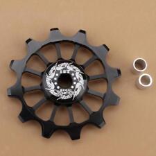 Ceramic Rear Derailleur Bike Bearing Jockey Wheel BMX Guide Pulley 12T Black