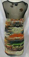 Urban Mango Multicolor Sleeveless Semi Sheer Midi Dress Size Large