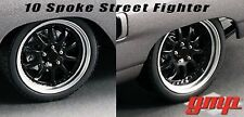 1:18 GMP Street Fighter 10 Spoke Wheel & Tire Set - HAMMER WHEEL SET - 18859