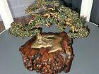 Vintage+Bonsai+Tree+Art+Sculpture+by+LeBlanc+jade+leaves+drift+wood+base.+