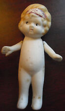 "Vintage 1930s Japan 1945 Bisque Girl  Doll Figurine 3 1/2"" Tall"