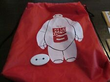 DISNEY BIG HERO 6 MOVIE  PROMO  BOOK BAG BACKPACK & PIN BACK BUTTON SWAG  FYC
