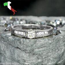 Italian 14k gold ring .30 carat brilliant-cut genuine diamonds H/VVS rings M-F