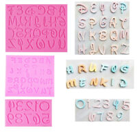 Alphabet Letter Number Silicone Chocolate Cake Topper Baking Mold Decor Tool DIY