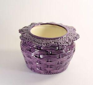 Basket Weave African Violet Pot Large Made to Order 2 weeks