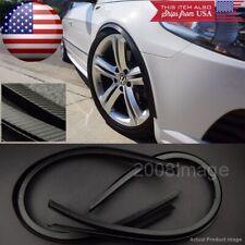 "4 Piece 47"" Black Carbon Arch Wide Body Fender Extension Lip Guards For BMW AUDI"
