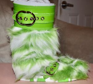 Miu Miu By Prada Eco Fur Boots…Sz 38.5…NIB