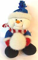 GANZ CHRISTMAS Animated Musical Singing Snowman Jingle Bells Red Blue Plush