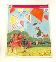 Vintage Walt Disney Mary Poppins Cardboard Childrens Whitman Frame Tray Puzzle