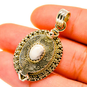 """Howlite 925 Sterling Silver Poison Pendant 1 1/2"""" Ana Co Jewelry P4360"""