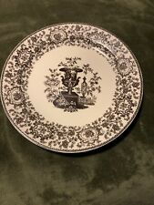 One Twos Company Brown Transferware Urn Vase Floral Wall Plate 9.75 in