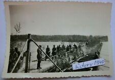 Foto mit Warthe Behelfsbrücke in Polen.(D)