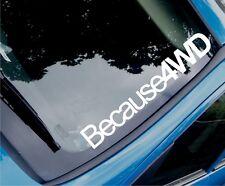 Porque 4wd Funny car/window 4x4 Todoterreno Vinilo calcomanía / etiqueta adhesiva-Gran Tamaño