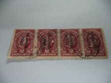 (C1Y) STRIP OF 4 EARLY AMERICAN 2 DOLLAR STOCK TRANSFER STAMPS IN GOOD CONDITION