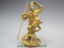China Pure Copper SunWukong Sun WuKong Monkey King Fighting over Buddha Statue