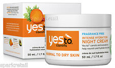 Yes To Carrots Organic Fragrance Free Intense Hydration NIGHT CREAM 50ml