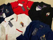 Men Ralph Lauren Bear Long Sleeves Polo Shirt Teddy Polo S M L XL XXL
