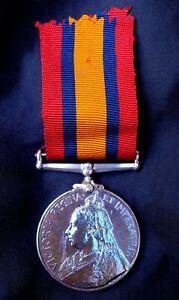 QUEEN'S SOUTH AFRICA MEDAL 1899 - 1902 (BOER WAR) UNNAMED, NAME ERASED.