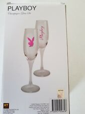 Playboy Champagne Glasses Set of 2 NICELY GIFT BOXED