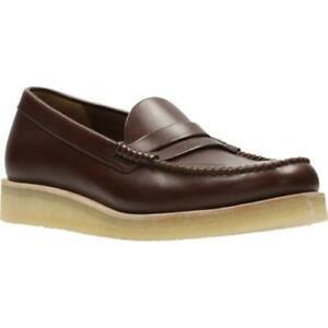 Clarks Originals Men Burcott Loafer Bordeaux Lea, Casual Shoe UK 7,10,11 G