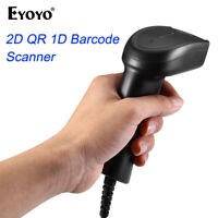 Eyoyo Handheld 2D Wired Barcode Scanner with USB cable for Computer PC Desktop