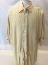 Men's  Linen Button Down Shirt Size XL