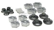 Savage X 4.6 17mm/14mm HEX NUTS & wheel hubs (flux pins XL RTR HPI 109083