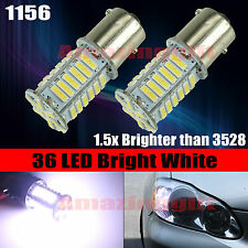 1156 400 LM 7014 Chip 36 LED High Power LED 8000K White Turn Signal Light Bulbs
