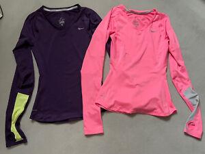 Nike Dri Fit Running Long Sleeve Tops XS Bundle