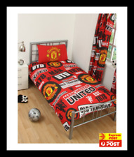 MANCHESTER UNITED FOOTBALL CLUB SINGLE bed QUILT DOONA SET NEW