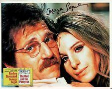 GEORGE SEGAL signed OWL & PUSSYCAT 8x10 authentic BARBRA STREISAND CLOSEUP coa