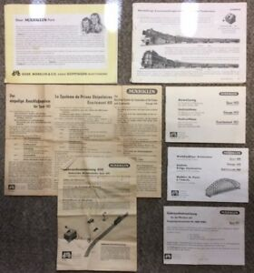 Vintage circa 1950s Marklin HO Train Instruction Pamphlets & Catalog Lot